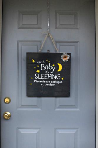 CGC Baby Sleeping Sign