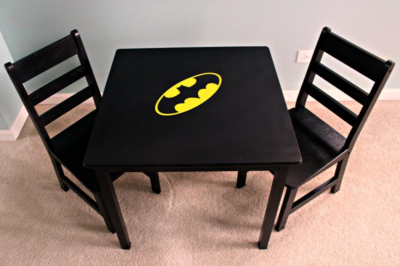 Batman Chalkboard Play Table
