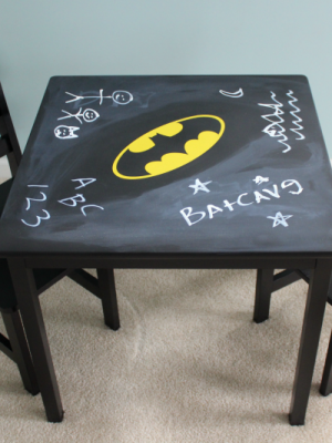 Batman Chalkboard play table