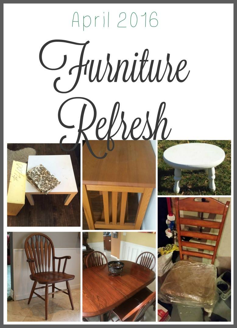 So many furniture flips in this April Furniture Refresh Challenge!!