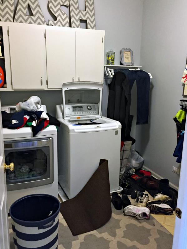 organizing a laundry/mud room