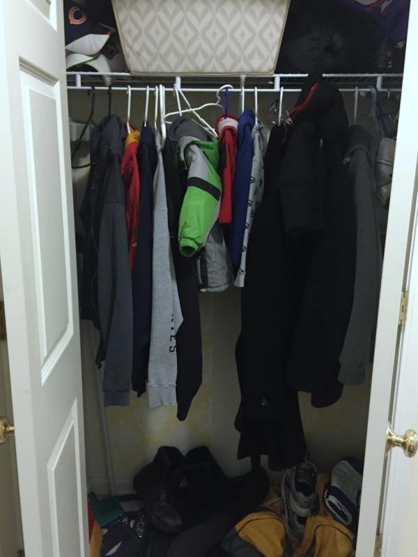 Update a cluttered closet