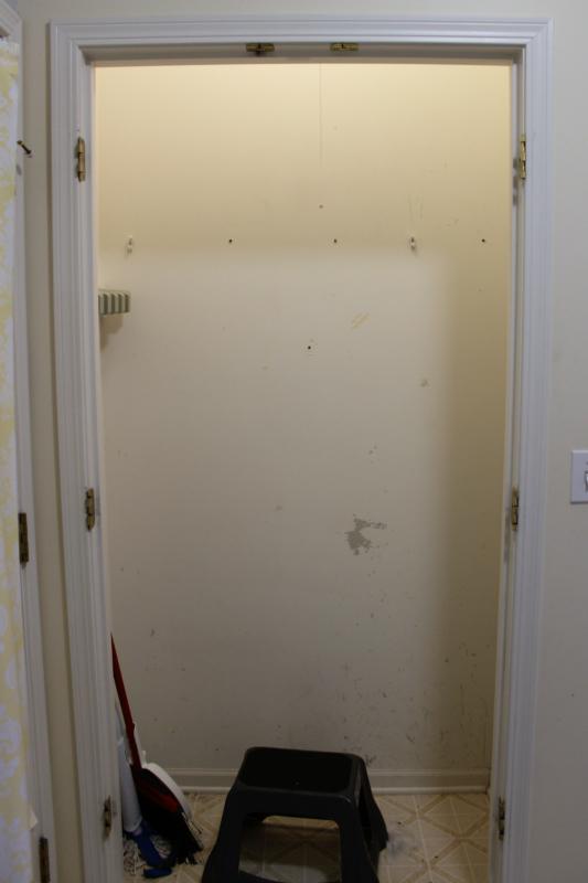 closet makeover to mud room nook