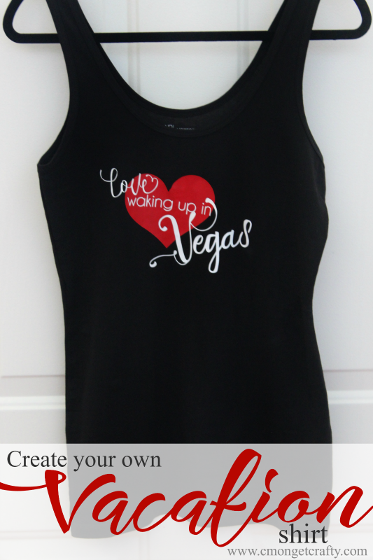 Create your own shirt for your vacation memories and where you've traveled!