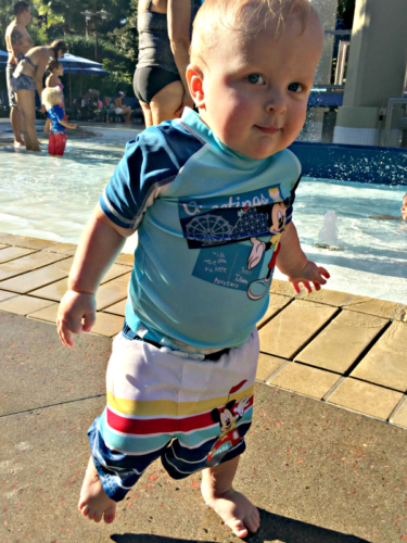 Mickey Mouse Swim Shirt and Shorts