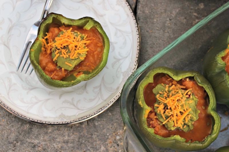Cheesy Salsa Stuffed Peppers