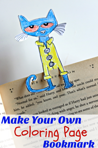This cute, easy, DIY bookmark is a fun activity for kids and grownups alike! Turn coloring book pages into bookmarks! #StartSchoolLikeAChampion #ad