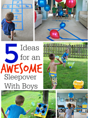Here are some easy and inexpensive boys sleepover ideas to keep those little guys entertained - not to mention wear them out! Use these #RestEasySolutions to make your next sleepover a piece of cake! #ad