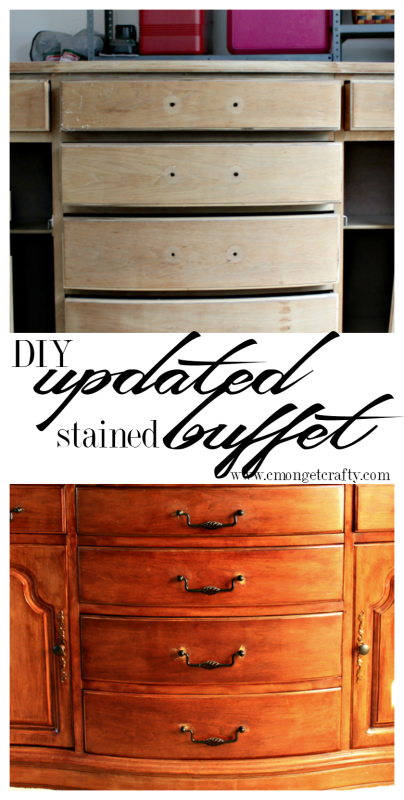 This was a find when we first bought our house, and sat in our garage for the longest time. Check out how I finally finished my update buffet!