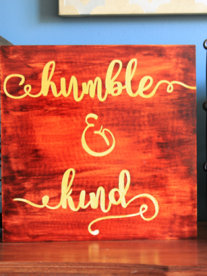 DIY Music Lyric Art {Humble and Kind}