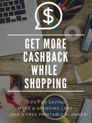 Cashback Planner Printable