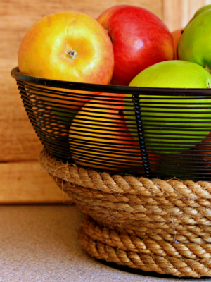 Try an easy update on a frugal find. Add a custom look to your kitchen with this DIY rope wrapped wire bowl.