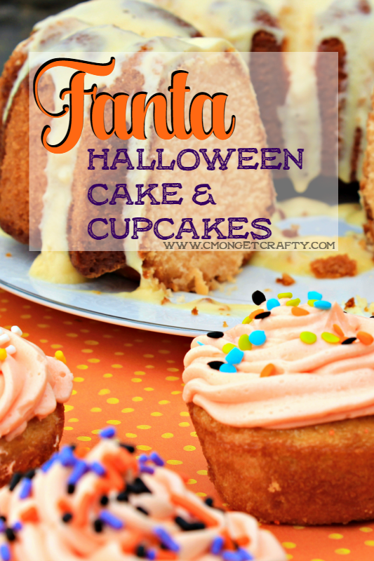 These delicious Halloween cupcakes and bundt cake are so easy to make! I have almost no baking skill, so you definitely can whip these up for your next Halloween party! #ad #WickedFantaFun