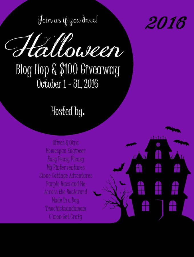 Stop by our Halloween Blog Hop and check out some awesome posts - maybe win some money!