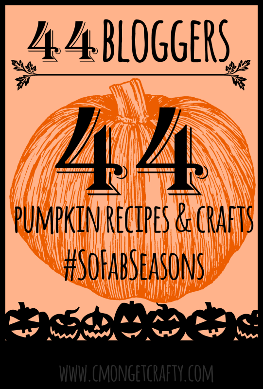 Pumpkin spice and everything nice! 44 bloggers have put forth their best pumpkin recipes and crafts, and they're all here! #SoFabSeasons