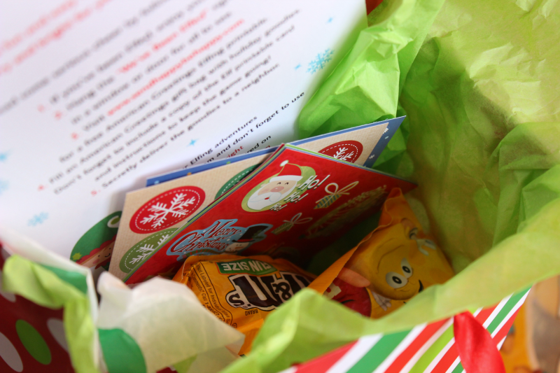 """Start a fun new tradition this season and pay it forward by """"elfing"""" your friends and neighbors! Make your own elf basket for some added cheer with this tutorial!"""