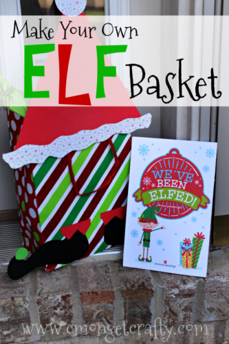 "Start a fun new tradition this season and pay it forward by ""elfing"" your friends and neighbors! Make your own elf basket for some added cheer with this tutorial!"