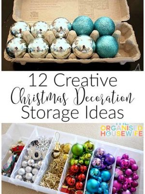 12 Tips for Christmas Decor Organization and Storage