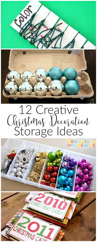Did you have a tangled mess when you pulled out your Christmas decorations this year? Save yourself some trouble next year and store everything properly with these easy diy tips!