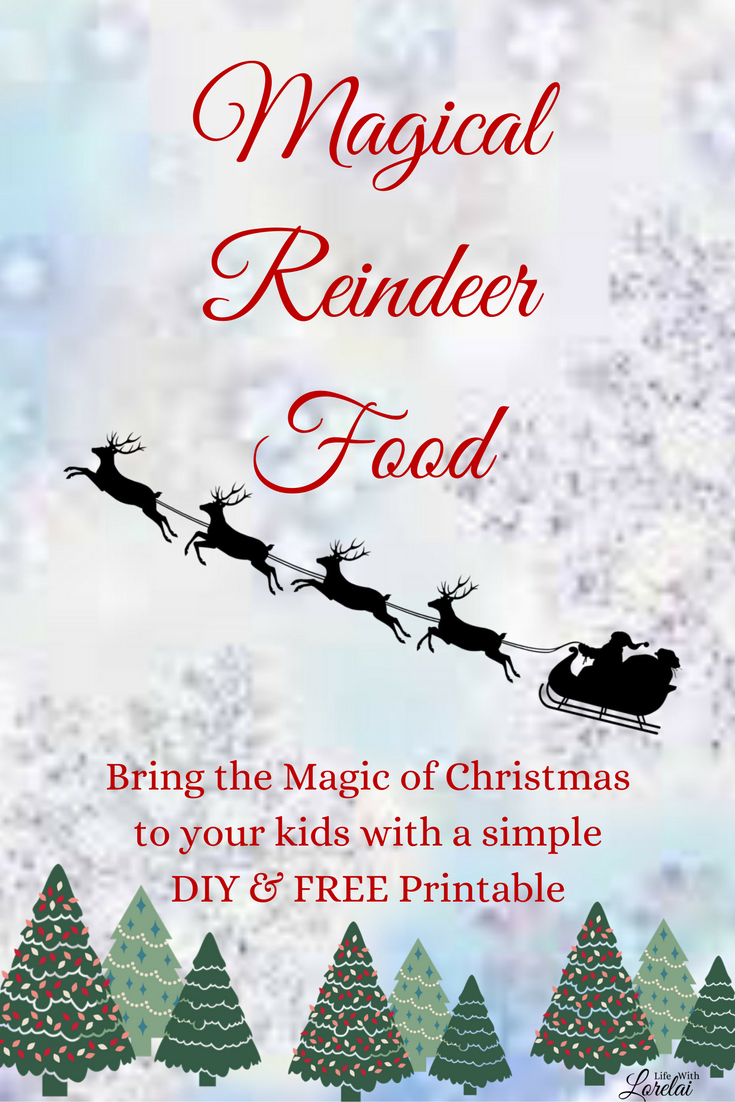 This simple Christmas tradition will bring joy and magic to your child this holiday. Make magical reindeer food. Download a FREE Printable!
