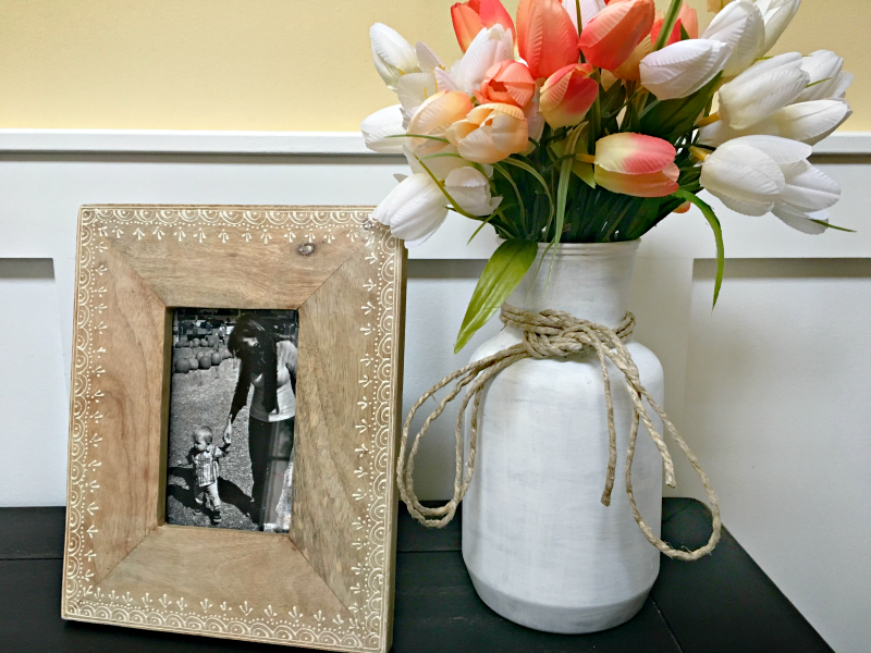 """I was inspired to """"fake"""" this farmhouse style vase by all the old milk cans I wish I owned!"""