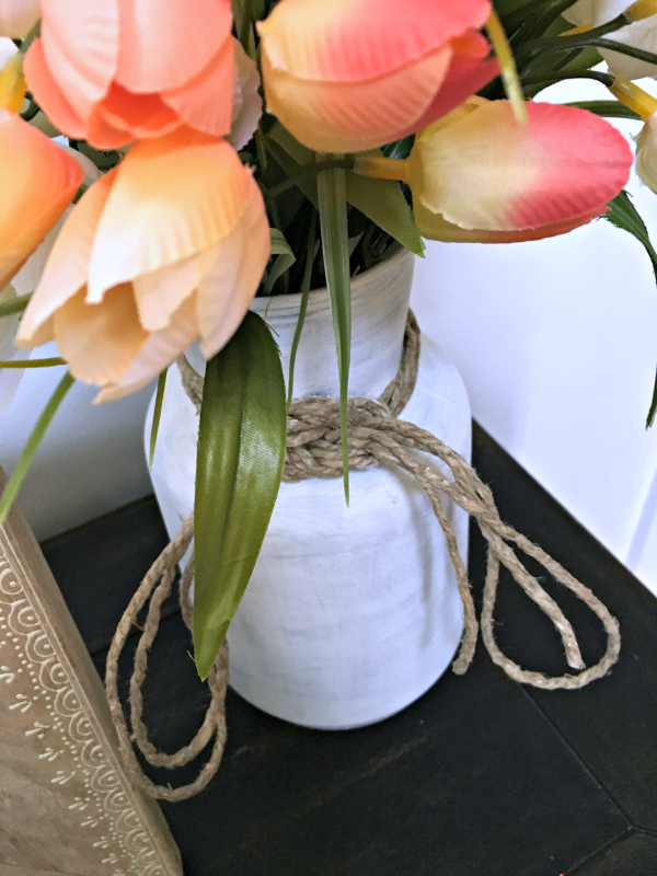 "I was inspired to ""fake"" this farmhouse style vase by all the old milk cans I wish I owned!"