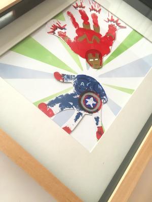 Superhero Handprint Art