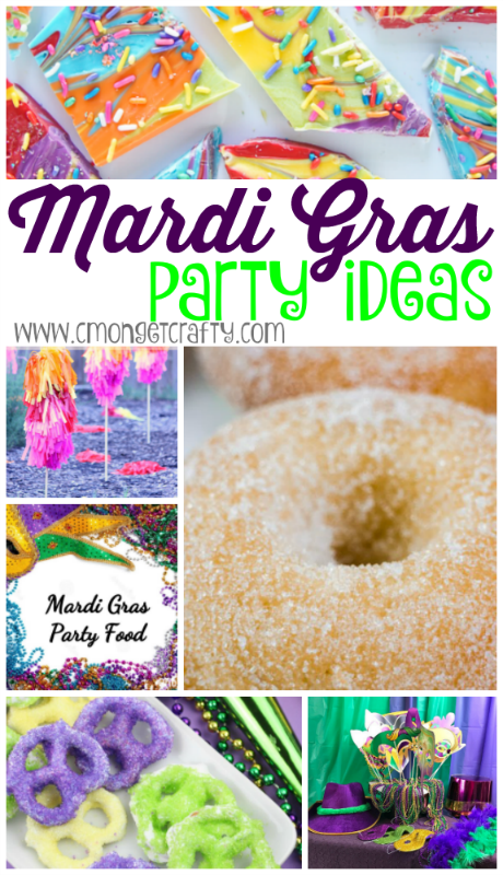 We threw a Mardi Gras party for my mom's sixtieth birthday a few months ago, and I wish I had some of these ideas handy then!