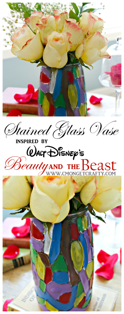 Diy Stained Glass Vase Inspired By Beauty And The Beast Cmon