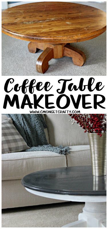 My mother handed over this beaten down coffee table, and I decided to give it a nice little makeover!