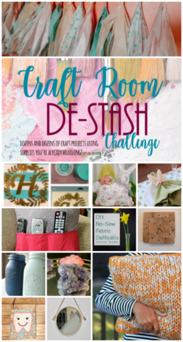 Every month, a group of bloggers challenge each other to create a new craft or project from their own stash of goodies! Check out some awesome creations you might be able to make from your own stash! #CraftRoomDestashChallenge