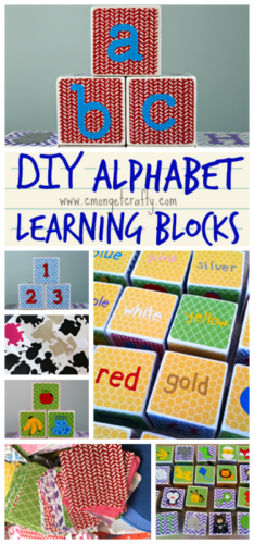 These DIY alphabet blocks make a GREAT gift, and you can customize them so many ways! #CraftRoomDestash