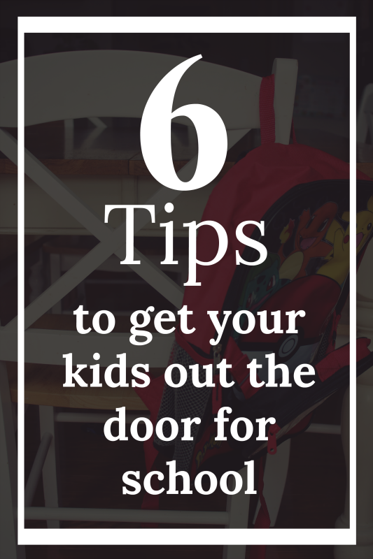 Never let the morning chaos of trying to get out the door for school leave you scrambling ever again! Try these tips to get your kids out the door this school year without a fuss!