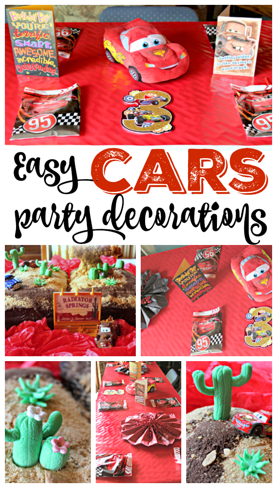 Easy Party Decorations For A Disney Cars Birthday Party