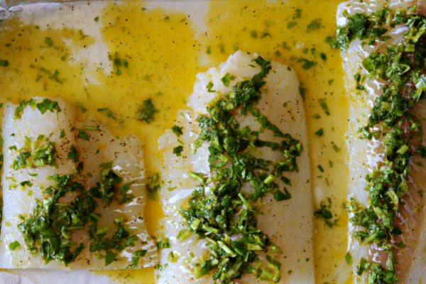 Cilantro Lime Buttered Cod - you will ADORE this delicious, buttery fish dish!