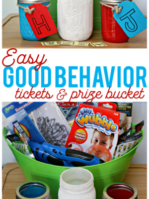 Easy DIY Good Behavior Tickets and Prize Box to Avoid Tantrums