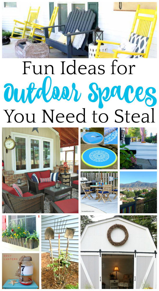Some of these outdoor spaces are so pretty, I'd never go inside! Check out some steal-worthy ideas that you can use in your space!