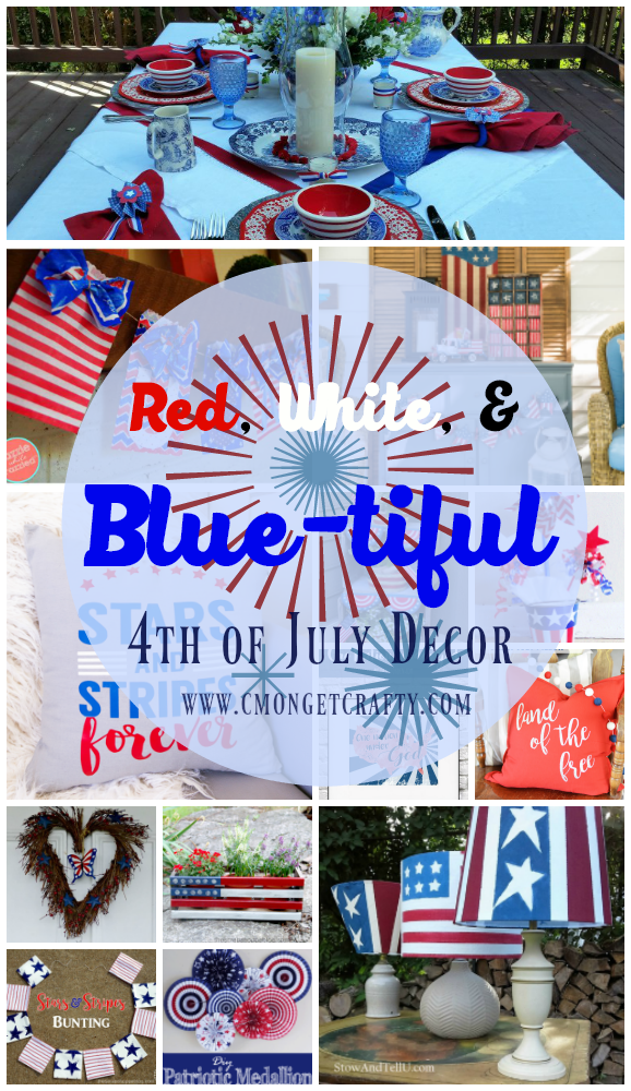 Check out this awesome round up of red, white, and blue-tiful decor, perfect for your 4th of July festivities!!