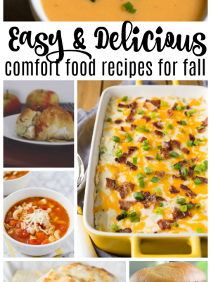 Easy & Delicious Comfort Foods for Fall {MM #168}
