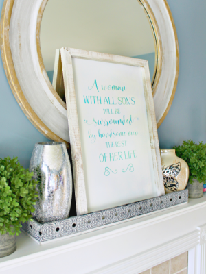 DIY Farmhouse Sign for Mothers of Sons