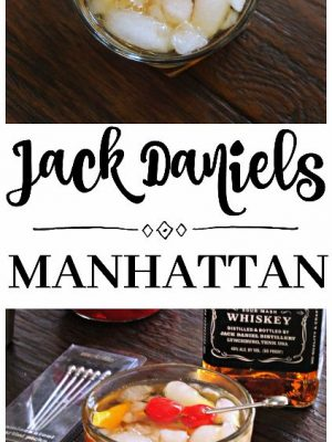 Jack Daniels Manhattan Cocktail {#MovieMondayChallenge}