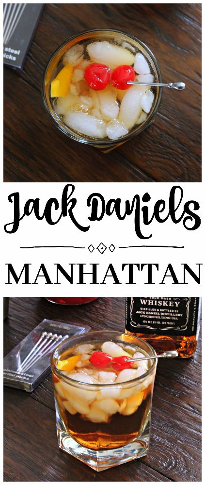 Jack Daniels Manhattan Cocktail Moviemondaychallenge C Mon Get Crafty