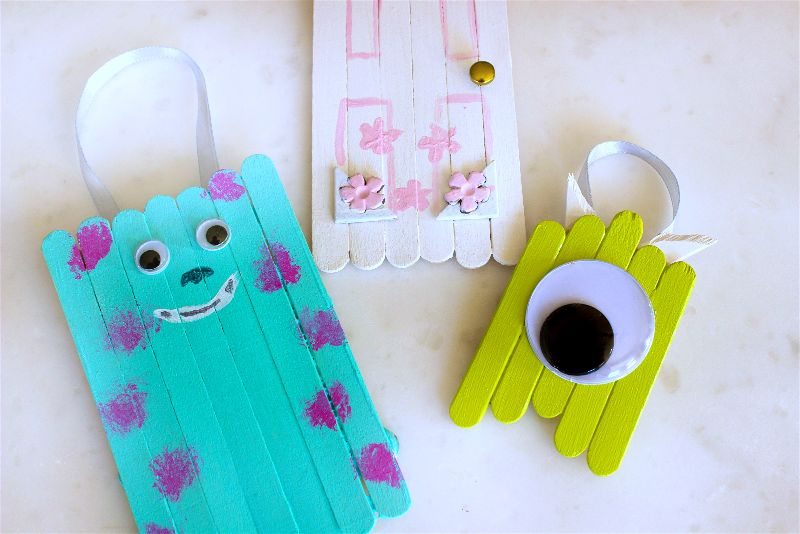 You Need To Make These Fun Monster S Inc Popsicle Stick Ornaments