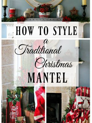 You can style a beautiful traditional Christmas mantel for under $100 with these fab finds! #AtHomeStores #ad