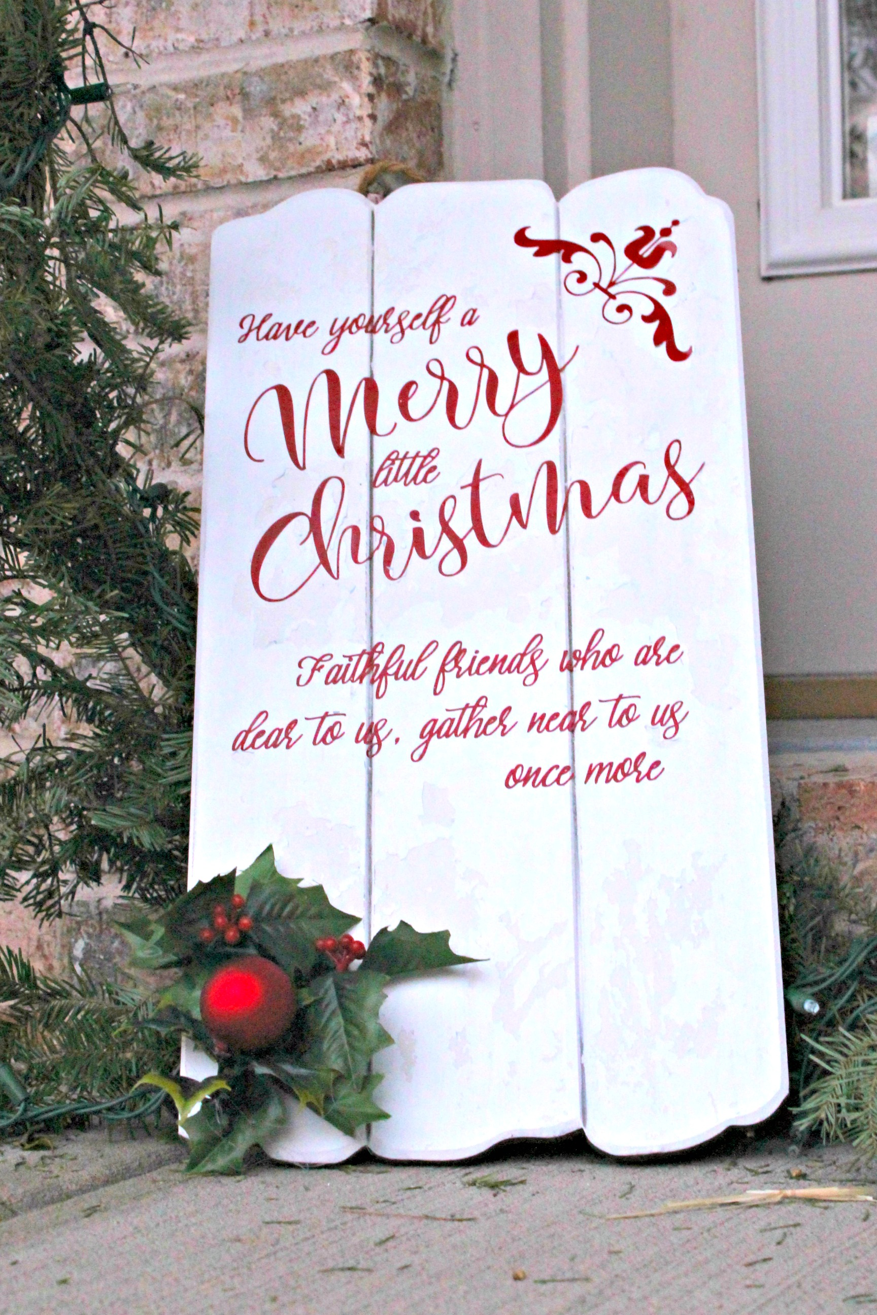 Have Yourself A Merry Little Christmas Sign.Have Yourself A Merry Little Christmas Wooden Sign Diy