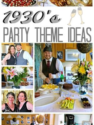 When my husband turned 35, we celebrated in style - 1930's style! This would make for a fun new years eve party as well! #nye #party #birthday #partydecor #partyideas #newyears
