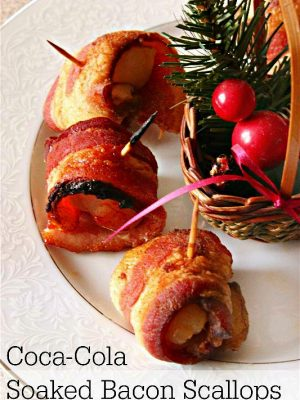 Coca-Cola Soaked Bacon Wrapped Scallops Appetizer