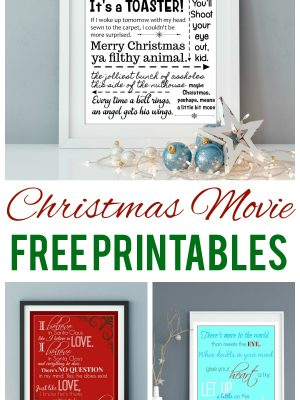 I love Christmas movies and I especially love all the amazing quotes you can glean from them! I created a few Christmas movie printables from some of my favorites - and you can download them for free!