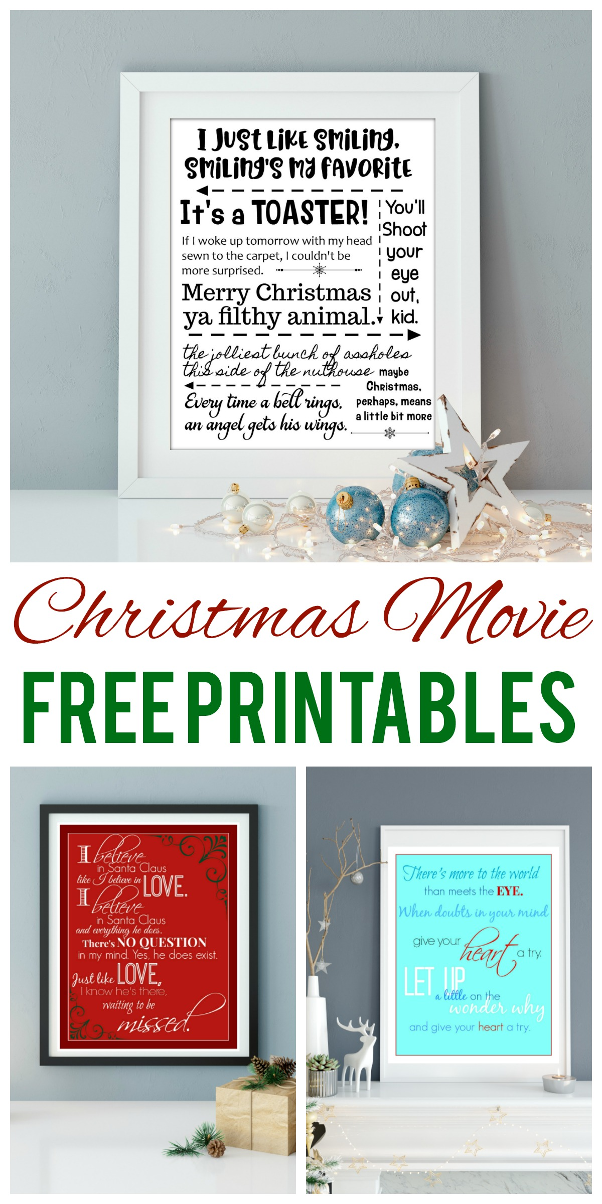 Christmas Movie Quotes Printables for True Believers