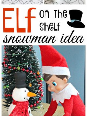 This is an easy craft to do and a fun #ElfontheShelf Idea to boot! This elf sized snowman makes for a cute morning surprise!
